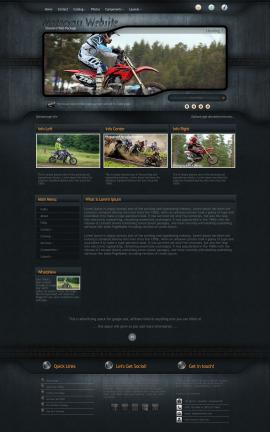 Precision Motocross Website Template