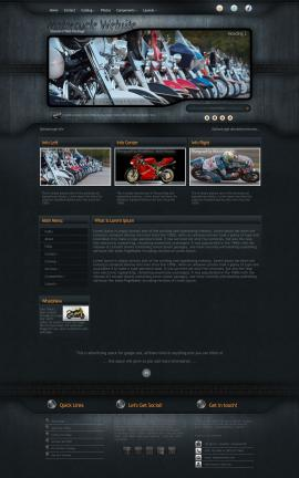 Precision Motorcycle Website Template