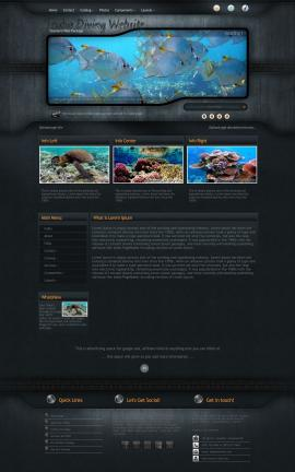 Precision Scuba-diving Website Template