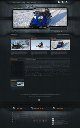 Precision Snowmobile Website Template