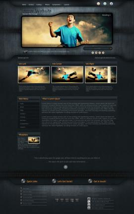 Precision Soccer Website Template