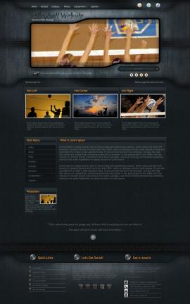 Precision Volleyball Website Template