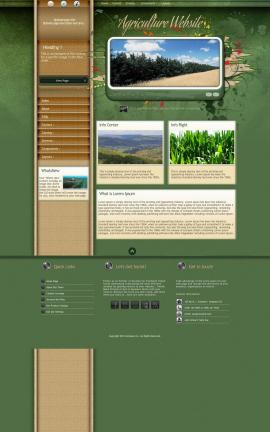 Fascinate Agriculture Website Template