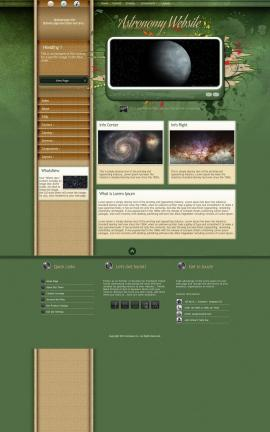 Fascinate Astronomy Website Template