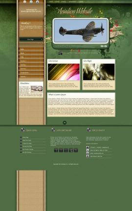 Fascinate Aviation Dreamweaver Template