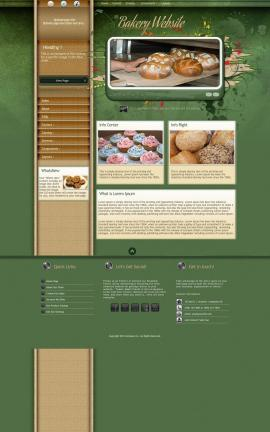 Fascinate Bakery Website Template
