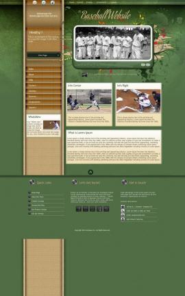 Fascinate Baseball Website Template