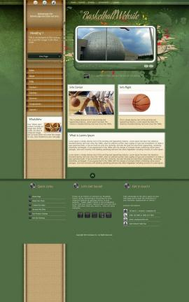 Fascinate Basketball Website Template