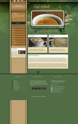 Fascinate Cafe Website Template