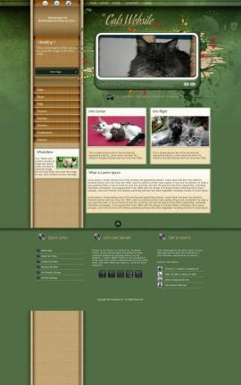 Fascinate Cats Website Template