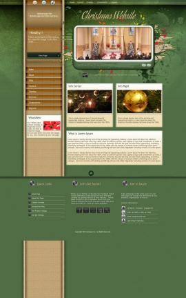 Fascinate Christmas Website Template