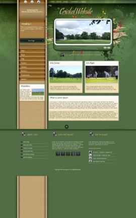 Fascinate Cricket Website Template