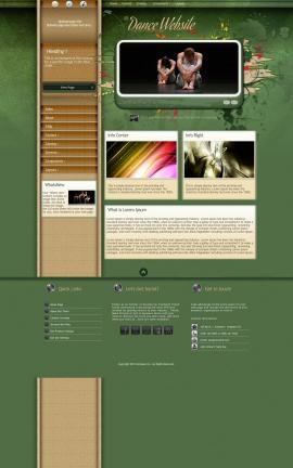 Fascinate Dance Website Template