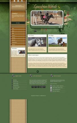 Fascinate Equestrian Dreamweaver Template