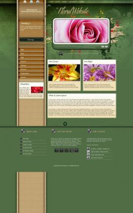 Fascinate Floral Website Template