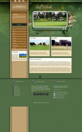Fascinate Golf Website Template