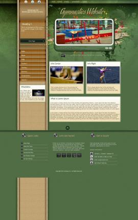 Fascinate Gymnastics Website Template