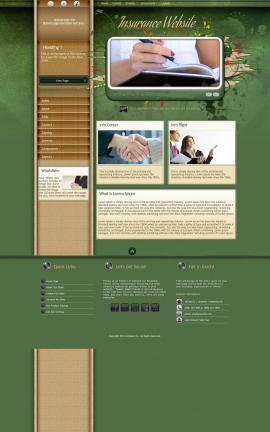 Fascinate Insurance Website Template