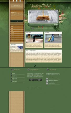 Fascinate Janitorial Website Template