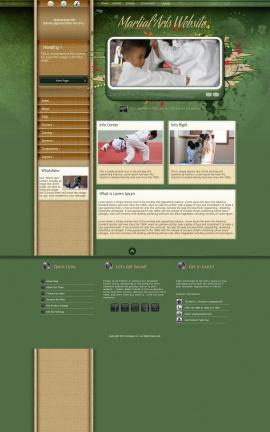 Fascinate Martial-arts Website Template