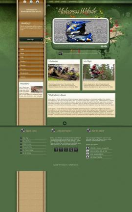 Fascinate Motocross Website Template