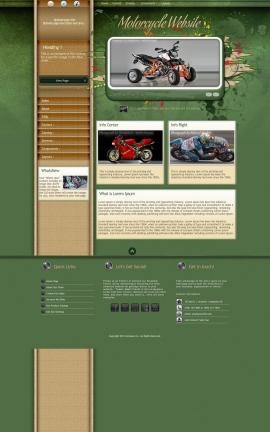 Fascinate Motorcycle Website Template