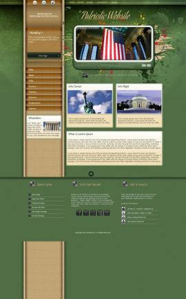 Fascinate Patriotic Website Template