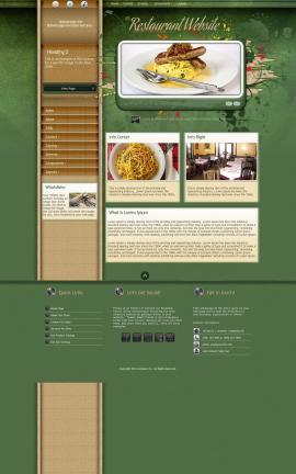 Fascinate Restaurant Website Template