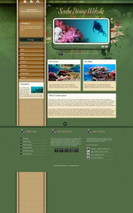 Fascinate Scuba-diving Website Template