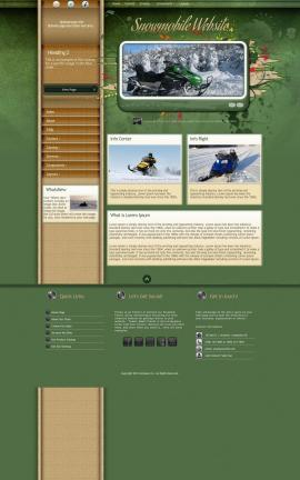 Fascinate Snowmobile Website Template