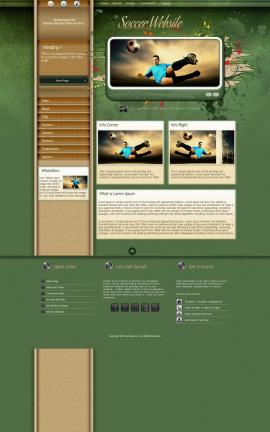 Fascinate Soccer Website Template