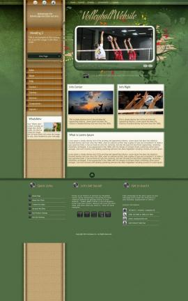 Fascinate Volleyball Website Template
