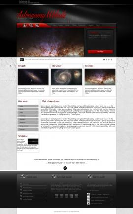 Experience Astronomy Website Template