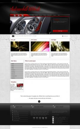 Experience Automobile Website Template