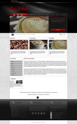 Experience Cafe Website Template