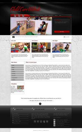 Experience Child-care Website Template