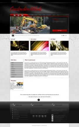 Experience Construction Website Template