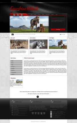 Experience Equestrian Website Template