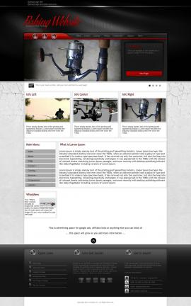 Experience Fishing Website Template