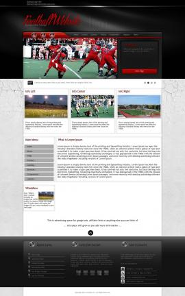 Experience Football Website Template