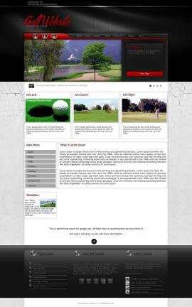 Experience Golf Website Template
