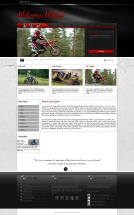 Experience Motocross Website Template