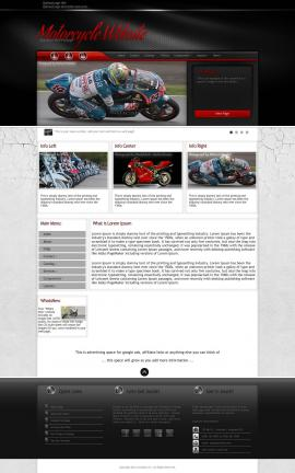 Experience Motorcycle Website Template