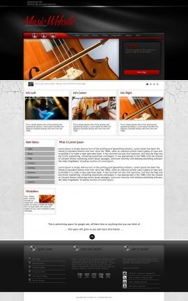 Experience Music Website Template