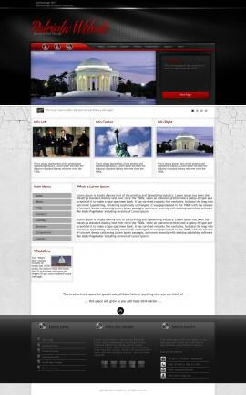 Experience Patriotic Website Template