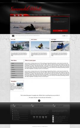 Experience Snowmobile Website Template