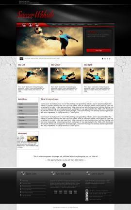 Experience Soccer Website Template