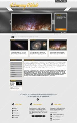 Paramount Astronomy Website Template
