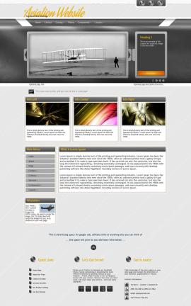 Paramount Aviation Dreamweaver Template