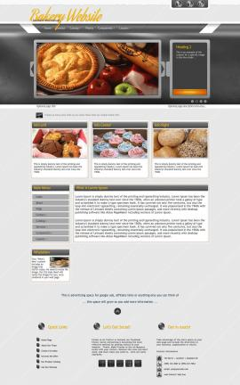 Paramount Bakery Website Template